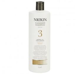 Nioxin System 3 Cleaner (麗康絲防脫髮3號洗髮水)有電染過 (不見頭皮) 1000ML